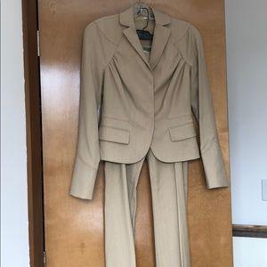Max studio khaki women's pants suit